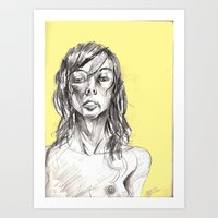 Sensual Yellow Art Print