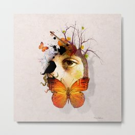 fluttery abstract   Metal Print