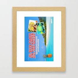 Carte Postale - Je suis parti avec ton argent Framed Art Print