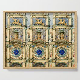 "Maurice Prendergast ""Clock Tower, Saint Mark's Square, Venice"" Serving Tray"