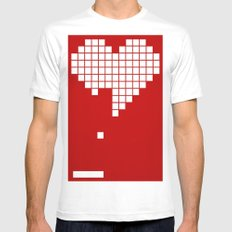 Arknoid Heart White Mens Fitted Tee MEDIUM