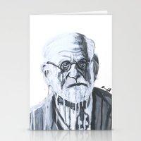 freud Stationery Cards featuring Sigmund Freud by Sobottastudies