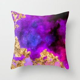 100 Starry Nebulas in Space 059 (Portrait) Throw Pillow