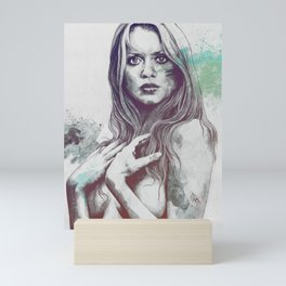 Gloria: Blue Mini Art Print