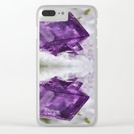 Amethyst Energy Clear iPhone Case