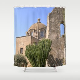 Island And Castle Shower Curtain
