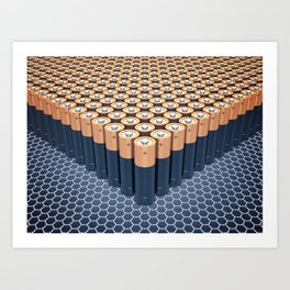 Batteries Art Print