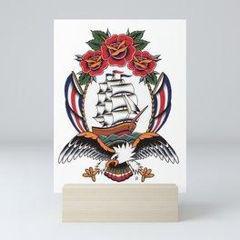 Eagle & Ship Traditional Tattoo Mini Art Print