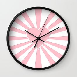 Pink Bubblegum Valentine Love Explosion Wall Clock