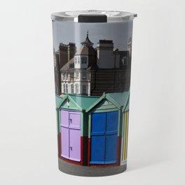 Colorful beach huts Travel Mug