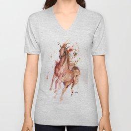 Arabian horse Unisex V-Neck