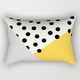 Mod Dots - yellow and Gray Rectangular Pillow