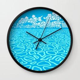 Tropical Ocean by Black Dwarf Designs Wall Clock