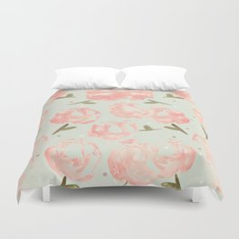 Syana's Cabbage Roses Duvet Cover