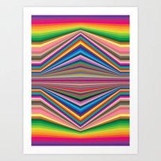 Colorful optic work Art Print