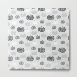 Gray Pumpkin Print Metal Print