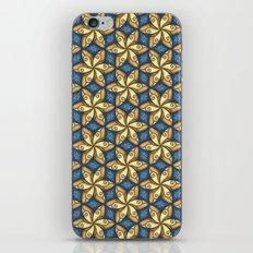 Flower Pattern Yellow/Blue iPhone & iPod Skin