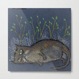 Depressed kitty Metal Print