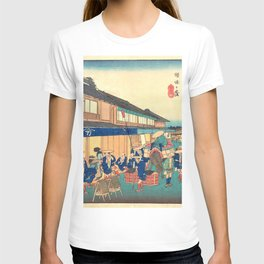 12,000pixel-500dpi - Utagawa Hiroshige - Edo Komeikaiteizukushi - Hakusan, Keiseiga Kubo T-shirt