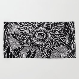 Powers of intention Beach Towel