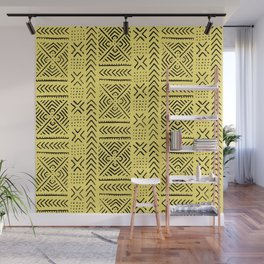 Line Mud Cloth // Yellow Wall Mural