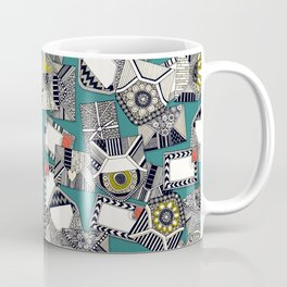 mail scatter teal Coffee Mug
