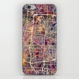Memphis Tennessee City Map iPhone Skin