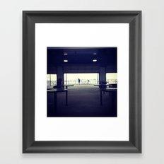 North Ave Beach Silhouette Framed Art Print