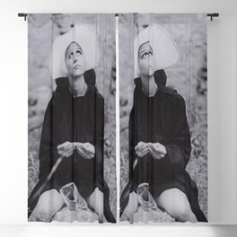 Nun Rolling Joint Sisters of Mercy Vintage Poster black and white photography - photograph Blackout Curtain