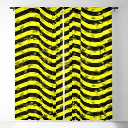 Wiggly Yellow and Black Speckle Pattern Blackout Curtain