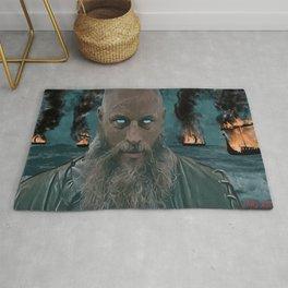 Ragnar Lothbrok Painting, King of the Northmen Rug