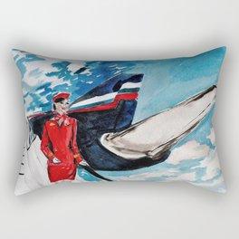 Flight Attendant Rectangular Pillow