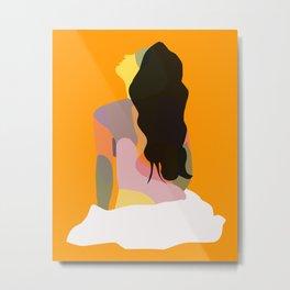 Modern Art Woman's Torso Metal Print