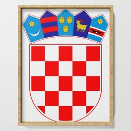 Croatia Coat of Arms Serving Tray