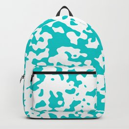 Spots - White and Cyan Backpack