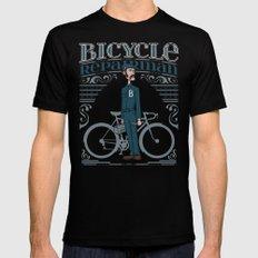 Bicycle Repairman Black LARGE Mens Fitted Tee