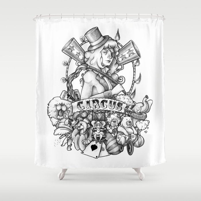Circus Shower Curtain By Lullabyd