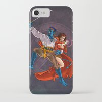 nightcrawler iPhone & iPod Cases featuring Nightcrawler & Scarlet Witch by Studio Acramill