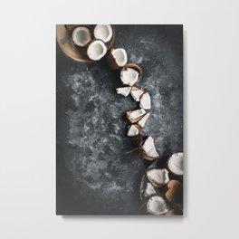 Cracked Coconut Still Life Metal Print