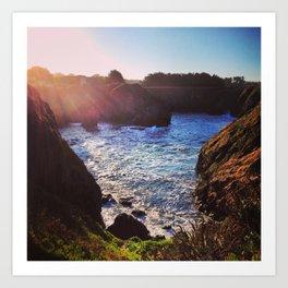 Sunrise at the Northern California Coast Art Print