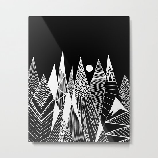 Patterns in the mountains Metal Print