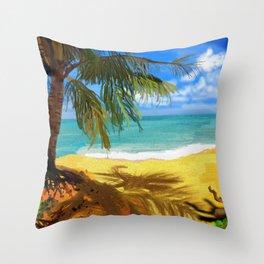 Bristle Beach Throw Pillow