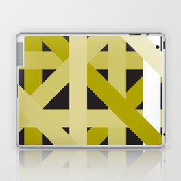 Gold Structural Lines Pattern Laptop & iPad Skin