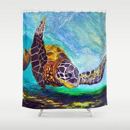For the love of Michael Angelo Shower Curtain
