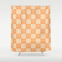 Tangerine Pattern Shower Curtain