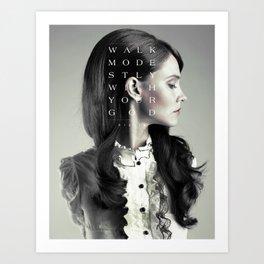 Modesty  Art Print