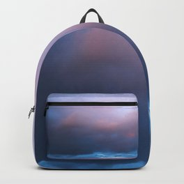 Blue Pink Clouds Backpack