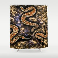 snake Shower Curtains featuring SNAKE by sametsevincer