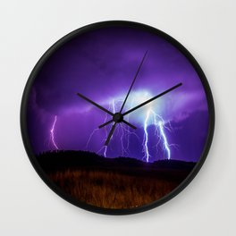 Foothills Lightning Wall Clock