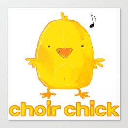 choir chick Canvas Print